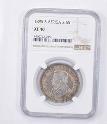 XF40 1895 South Africa 2 1/2 Shillings - Graded NGC