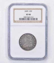 XF40 1922 Capped Bust Quarter - Graded NGC