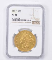 XF45 1857 $20.00 Liberty Head Gold Double Eagle - Graded NGC