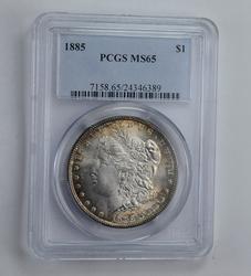 MS65 1885 Morgan Silver Dollar - Graded PCGS