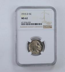 MS62 1915-D Indian Head Buffalo Nickel - Graded NGC