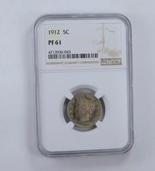 PF61 1912 Liberty V Nickel - Graded NGC