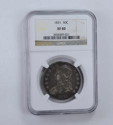 XF40 1831 Capped Bust Half Dollar - Graded NGC