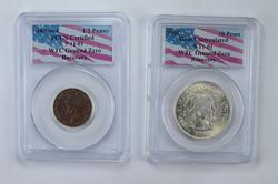 Lot (2) WTC Ground Zero Recovery World Coins - PCGS Certified