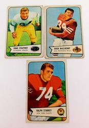 3 Bowman 1954 Football Cards