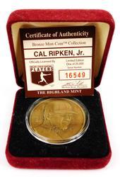 Cal Ripken, Jr. Bronze Medallion w/COA