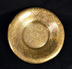 Large Etched Brass Bowl With a Very Elegant Pattern
