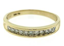 Diamond Channel Set Band Ring