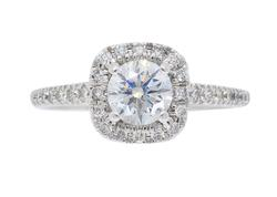 White Gold Halo Style Engagement Ring