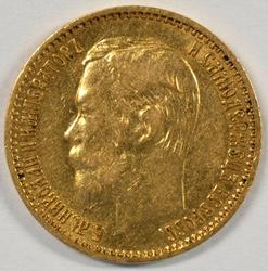Scarce 1898 Russia 5 Roubles Gold Piece