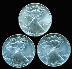 Better date Superb Gem BU $1 Eagles: 1986, 1994, & 1995