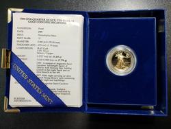 Gem Ultra Cameo PRF 1989 $10 Gold Eagle. Box/COA