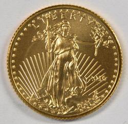 Superb Gem BU 2016 $5 American Gold Eagle coin.