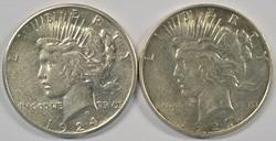 Hi end 1924-S & 1927-D Peace Silver Dollars. Key dates