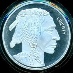 Special 5 Troy OZ pure .999 Fine Silver Buffalo round