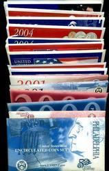 Run of 8 Modern US Mint Sets: 1999-2006