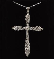 Vintage 14kt Gold 0.50ctw Diamond Cross