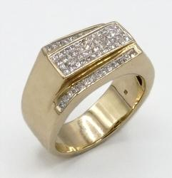 Men's Diamond Cluster Ring in 14KT Yellow Gold