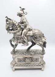 German Silver Jeweled Knight Circa 1920's