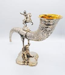 Simply Magnificent German Silver Horn Sculpture