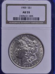 Choice AU55 1900 Morgan $, NGC