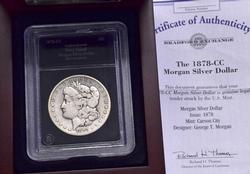 1878-CC Morgan Dollar, Presentation Box