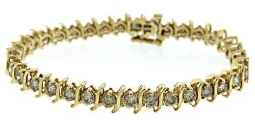 Diamond S Link Line Bracelet