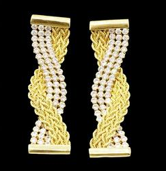 Magnificent 18kt Yellow Gold Earrings