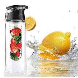 Outdoor Sports Fruit Juice Infuser Bottle with Flip Lid