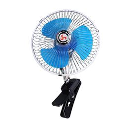 12V 6 Inch Mini Oscillating Car Air Cooling Fan Clip On