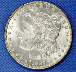 BU 1887 Morgan Silver Dollar