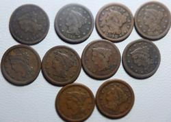 1843-1856 10  Liberty Head Large Cents