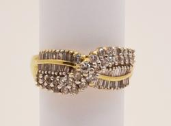 Stunning 1 ctw Diamond Ring in Yellow Gold Size 6.75
