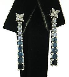 Graduated Sapphire Earrings