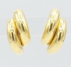 Lustrous 18kt Yellow Gold Semi-Circle Earrings