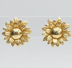 14kt Yellow Gold Sunflower Earrings