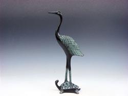 Bronze Crafted Crane Sculpture