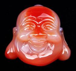 Agate Carved Buddha Pendant