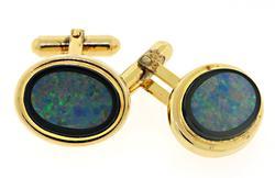 Opal and Black Onyx Cufflinks