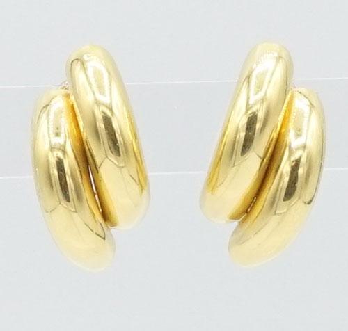 Lustrous 18kt Yellow Gold Semi-Circle Earrings
