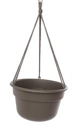 Bloem 12in Dura Cotta Hanging Basket Peppercorn