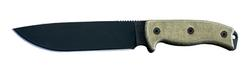 Ontario 7 in Fixed Blade Micarta Handle Nylon Sheath