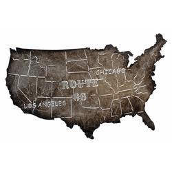 Roadtrip USA Map Metal Art