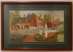 Framed Watercolor by Tom Franta