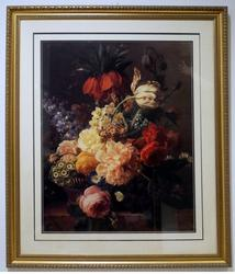 Beautiful Still Life with Flowers Offset Lithograph