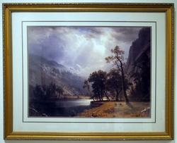 Beautiful American Landscape Offset Lithograph