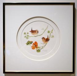 Beautiful Little Wrens Offset Lithograph Signed