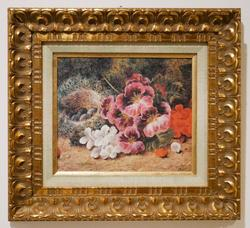 Beautiful Still Life Offset Lithograph Mounted on Board