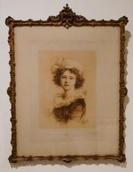 Vintage Elisabeth Vigee Lebrun Portrait by W Unger