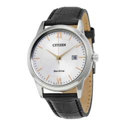 New Mens Silver Dial Citizen Eco Drive